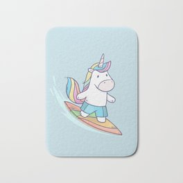 Unicorn Surfer Bath Mat