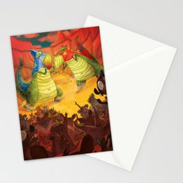 Dinoluchadores Stationery Cards