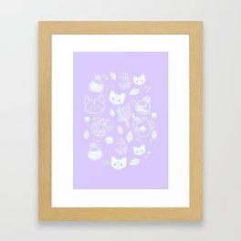 Herb Witch // Purple Pastel Framed Art Print