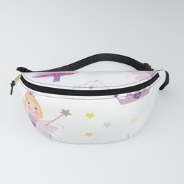 Cute Fairytale Pattern With Stars, Mushroom and Magic Wand Pattern Fanny Pack