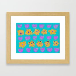 pattern with flowers Framed Art Print