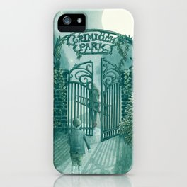 The Night Gardener - Grimloch Park iPhone Case