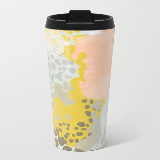 Upton - Abstract painting perfect for dorm room phone case abstract art and feminine abstract art Metal Travel Mug