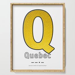 Quebec - Navy Code Serving Tray