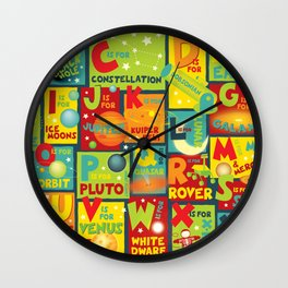 Space Alphabet Wall Clock