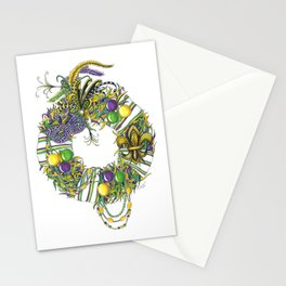 Mardi Gras Wreath Stationery Cards