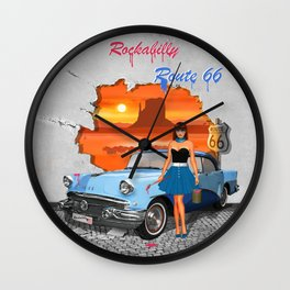 Rockabilly Street Art Wall Clock