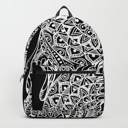 Mandala of deep meditation Backpack