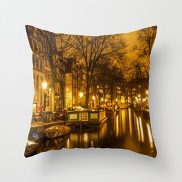 Amsterdam canals Throw Pillow