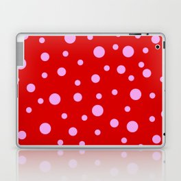 Pink Dots on Red Laptop & iPad Skin