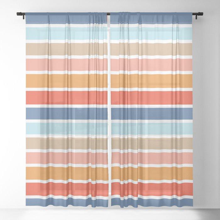 Six Stripes Sheer Curtain