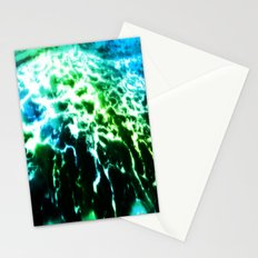 Aqua Blues and Greens Stationery Cards