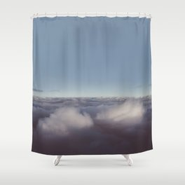 Panorama of clouds over sky Shower Curtain