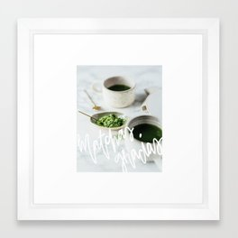Matchas Gracias Framed Art Print