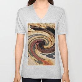 Swirl 07 - Colors of Rust / RostArt Unisex V-Neck