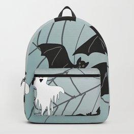 Bats & Monsters Halloween Spider Web Backpack