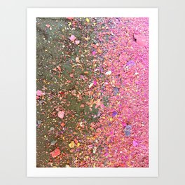 Confetti Chalk Dust Unicorn Art Print