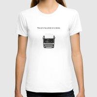 typewriter T-shirts featuring typewriter by VALENTINA MAGRO