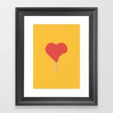 Bite of love Framed Art Print