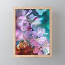 Double Flowers Framed Mini Art Print
