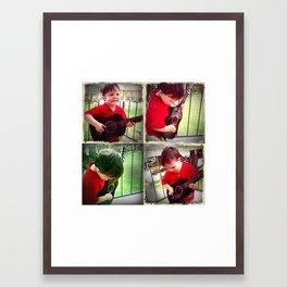 Little Music Man 4 Framed Art Print