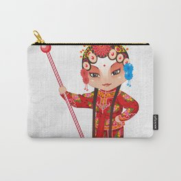 Beijing Opera Character YangPaiFeng Carry-All Pouch