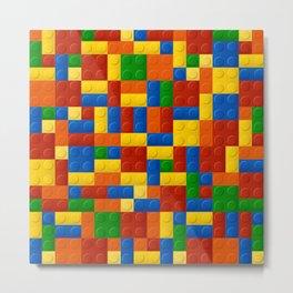 Plastic pieces pattern Metal Print