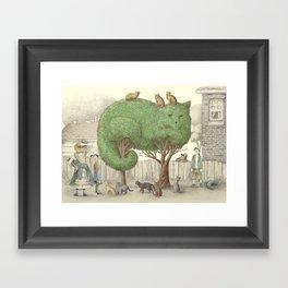 The Night Gardener - The Cat Tree Framed Art Print