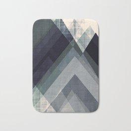 mountain art, geometric art, contemporary art print, modern art print, colorful wall art, midcentury Bath Mat