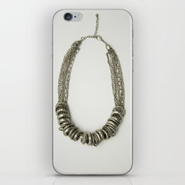 Mongolian silver necklace iPhone Skin