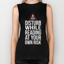 Disturb Reading At Your Own Risk Novelty Shirts for Women Biker Tank