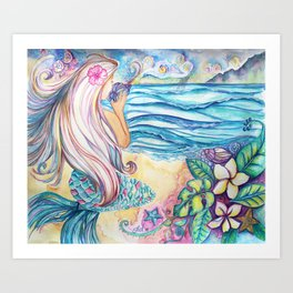 Mermaid Bliss Art Print