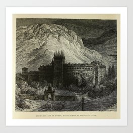 Gustave Doré - Illustration of Ancient Convent of Bujedo, between Burgos and Miranda de Ebro (1874) Art Print