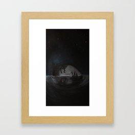 Floating head. Framed Art Print