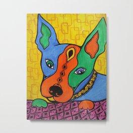 Dog portrait. Brat Metal Print