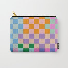 Checkerboard Collage Carry-All Pouch