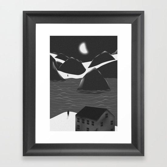 Miss You Framed Art Print