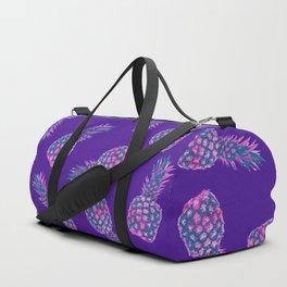 modern pink Pineapple pattern design - violet Duffle Bag