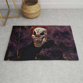Scary Clown Purple Smoke Rug