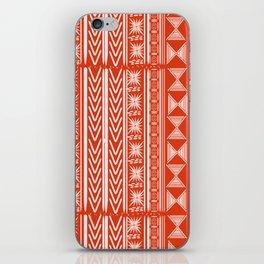 Boho Mud Cloth (Coral) iPhone Skin