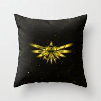 triforce Throw Pillows featuring Zelda - Triforce by albert Junior