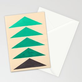 Colorful Turquoise Green Geometric Pattern with Black Accent Stationery Cards