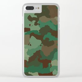 Forest camo Clear iPhone Case