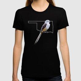 Oklahoma – Scissor-Tailed Flycatcher (Black) T-shirt