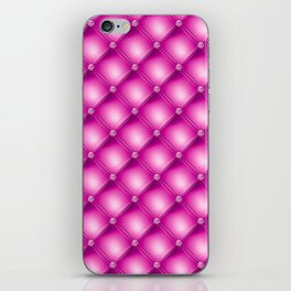 Fuchsia Pink Quilted Texture iPhone Skin