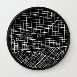 Fishtown and South Kensington Map Wall Clock