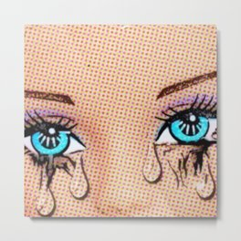Tears! Cool Pop Art! Metal Print