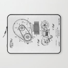 Motorcycle Patent Art Laptop Sleeve