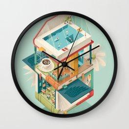 Creative house Wall Clock