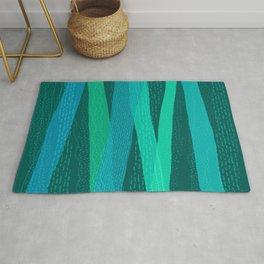Precipitation (Blue Green Textured Abstract) Rug